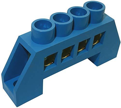 AERZETIX - Morsettiera di distribuzione isolata per quadro elettrico - Conduttore neutro 4PIN - Collegamento - 59.50mm - Connettore cavo elettrico - C