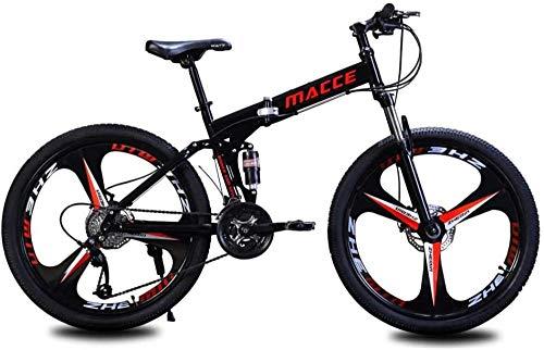Mountainbike 26 Zoll Faltrad Fahrrad Unisex Student Faltbares Mountainbike, Rahmen aus Kohlenstoffstahl, 21 Geschwindigkeit, Stoßdämpfung, Sicherhei