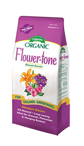 Espoma Flower-Tone Plant Food, Natural & Organic Fertilizer for Abundant Blooms, 4 lb, Pack of 1