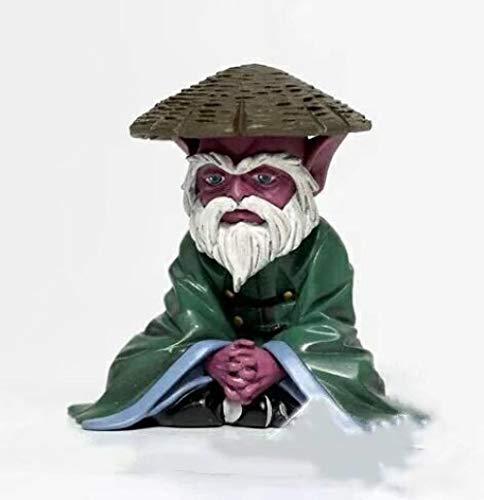 RGWSYTNIA Figura de Anime Estatua Jacksdo Saint Seiya Myth Cloth Elder Libra Dohko Sentado con Sombrero de Paja Ver PVC Figuras de acción Juguetes muñeca Regalos de Anime 8cm