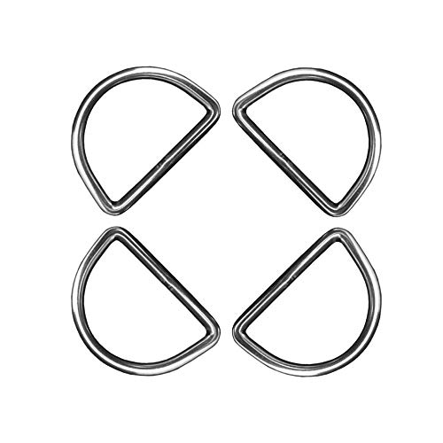 4 Pieces Stainless Steel 316 Marine Grade D Ring Welded 5mm x 50mm Dee Ring(4)