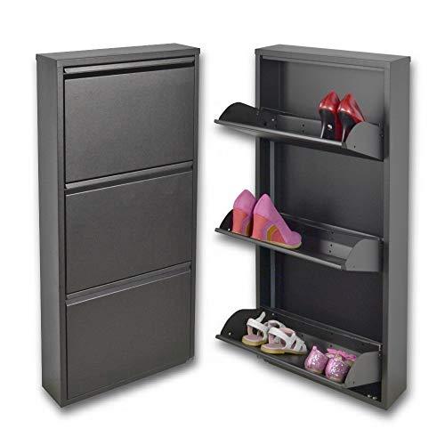 Zapatero con 3 puertas de espacio para tarjetas, para un máximo de zapatos capacidad 9 pares, las únicas Scarpiere metal, garantía de 15 años, y también para exteriores.