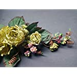 gorgeous dried look rose swags. silk flowers arrangements green