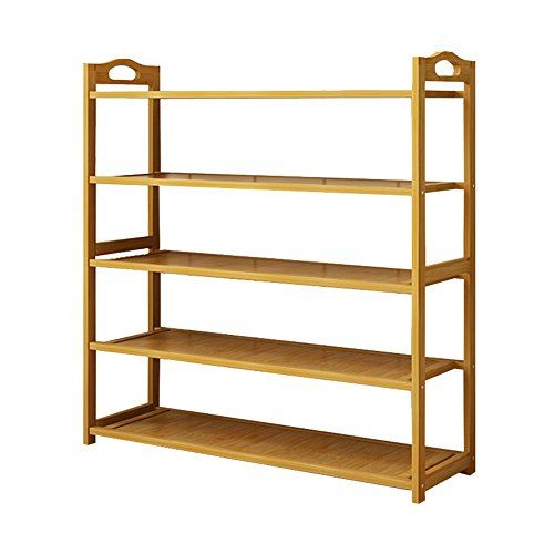 HHUT Scarpiera Multi Function Storage Rack di bambù Materiale Cinque Strati Impermeabile e Facile da Pulire Camera Dormitorio Tidy Shelf Organizzatore/Shoe Rack Stand