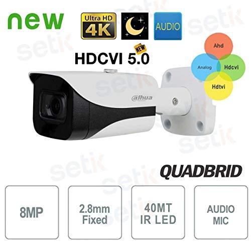 Dahua - Telecamera Dahua 8MP 4K 2.8mm Starlight Audio - HAC-HFW2802E-A
