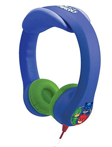 LEXIBOOK-Pijamasks-Auriculares Irrompibles, Cascos Audio, a Partir de 3 años HP018PJM, Color Azul, 18.5 x 18.5 x 7 cm