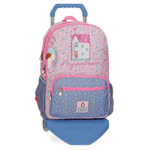 Enso My Sweet Home Double Compartment Backpack with Trolley Multicoloured 32 x 42 x 13 cm Polyester 23.94 L