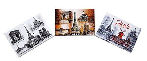 Dessapt Souvenir Lot de 3 Magnets décoratives Les Monuments de Paris