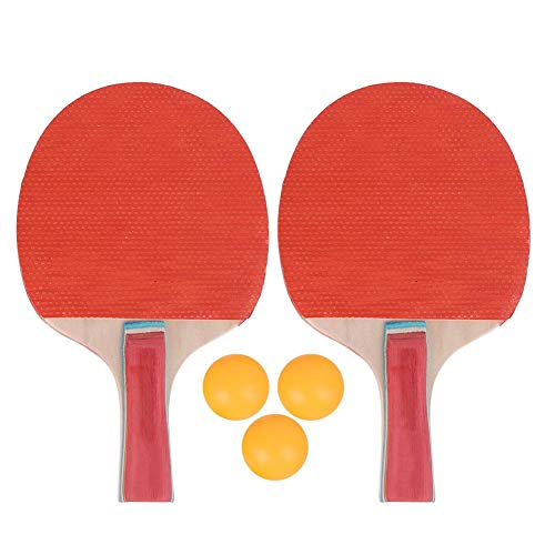 Sale!! Nunafey Ping Pong Paddle Set, Table Tennis Set with 2 Table Tennis Racket 3 Table Tennis Ball...