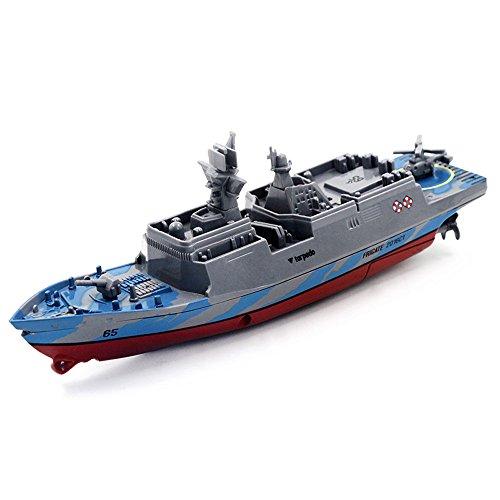 Huhu833 RC ferngesteuertes Mini Kriegsschiff, Flugzeugträger, Schlachtschiff, Aircraft Carrier Schiff Boot mit Fernbedienung Fernbedienung Elektro-Boot (Tarnung)
