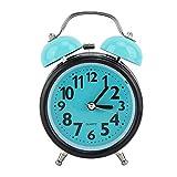 Ymiko Reloj Despertador de Doble Campana, Bonito Reloj de Noche clásico, Retro, Despertador matutino, silencioso y sin tictac