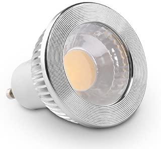 GOOLSUN 5-watt GU10 LED COB Flood Bulb, 2700K Warm White, Dimmable, 90° Beam Spread, 50-watt Equivalent, 500 lumens, CRI 80+, AC 120V, 2.4