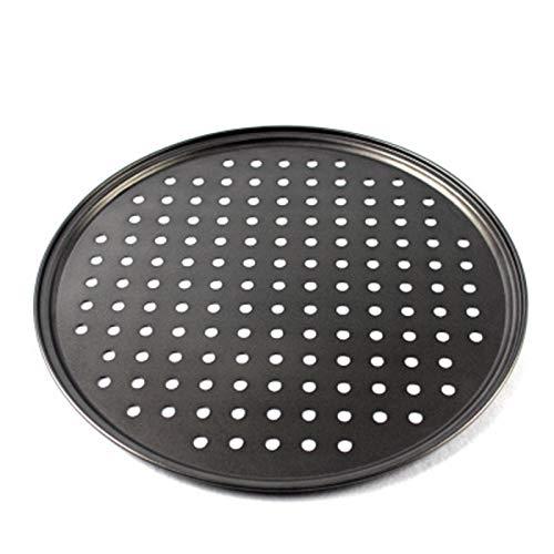 Acreny - Molde para pizza con revestimiento antiadherente de acero al carbono para cocina en el hogar, 24,5 cm