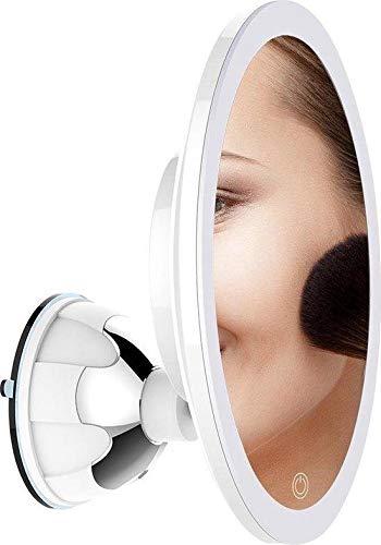 Make up spiegel met verlichting en zuignap - 360° verstelbaar - 10x vergroot
