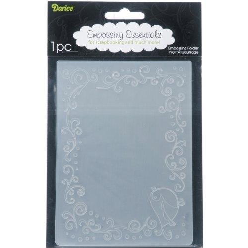 Darice Embossing Folder Mascherina Uccello, Plastic, Transparent, 10.8x14.6x0.3 cm