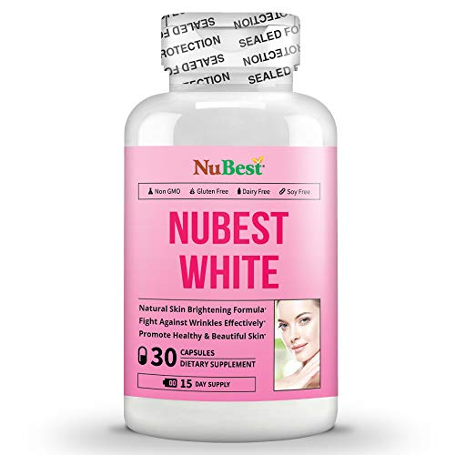 NuBest White 30 Capsules - Natural Skin Brightening Formula with Glutathione, Milk Thistle Extract, L-Cysteine, Precious Herbs and Vitamins | Liver Health GSH Detox | All Natural Formula