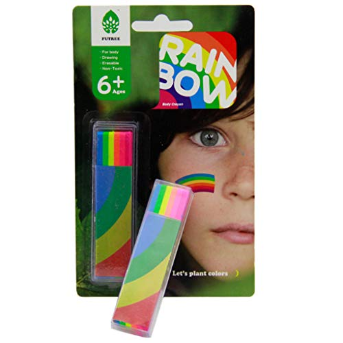 Rainbow Face Paint Stick Body Tattoo,Colored Pigment Pen,Fluorescent Crayon,Washable Adult Kid Party Favors Makeup Cosmetic Tool,Halloween/Christmas Party Face Painting kit