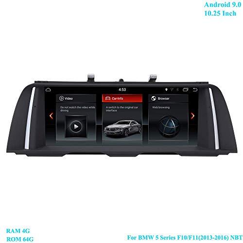 10.25 Zoll Bildschirm RAM 4G ROM 64G Android 9.0 Moniceiver mit GPS Navi Android Radio für BMW 5 Series F10/ F11(2013-2016) Original NBT System