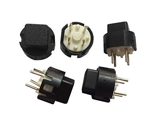 20 unids original para Taiwán Key-S-B Square Head Key Switch Reset sin bloqueo táctil interruptor redondo táctil enchufe recto 4 pies