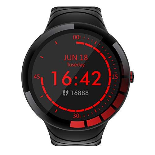 FMSBSC Sport Uhr Smartwatch für Herren, Sportuhr Armband, Bluetooth Fitness Tracker mit Pulsmesser/Blutdruck / SpO2-Monitor/Schlafmonitor, IP68 wasserdicht Smartwatch für iOS Android,Schwarz