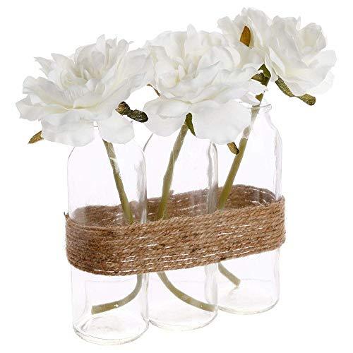 Zusammensetzung von 3 Rosen Rohrglas H23