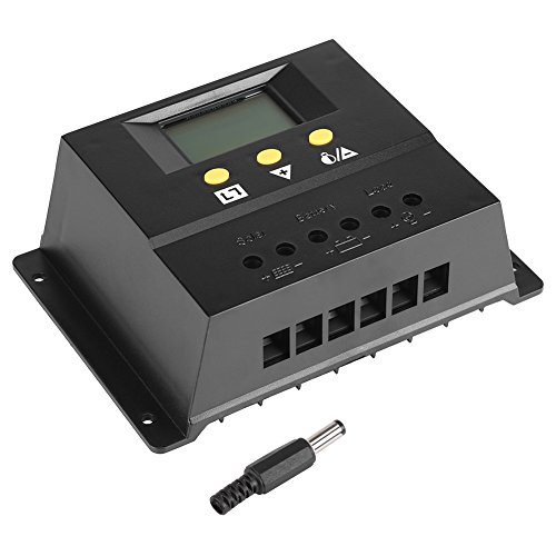 Zerodis 80A Panel Solar Inteligente Controlador de Carga DC 12 / 24V PWM Battery Solar Charger Regulador Inteligente con sonda de Temperatura 720 / 1440W