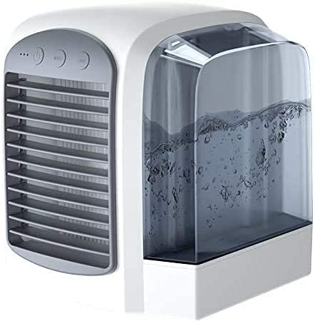 Amugo Breeze Maxx Portable AC, Personal Space Mini Evaporative Air Cooler, 3-in-1 Air Cooling Purification Humidifier for Home Office Bedroom (C)