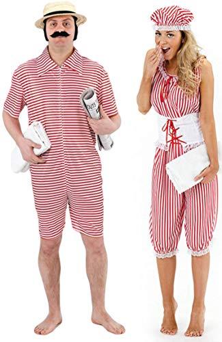 Fancy Me Homme et Femme Couples Années 1920 Plage Maillot de Bain déguisement Costume déguisement
