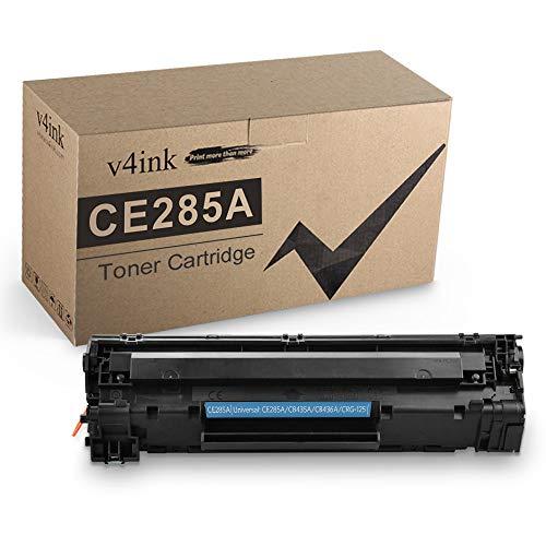 V4INK - Cartucho de tóner compatible para HP 85A CE285A 35A CB435A 36A CB436A Canon 125 para HP Laserjet P1102w M1212NF M1217nfw P1505...