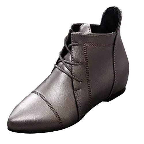 Dorical Damen Standard- & Latintanzschuhe Tanzschuhe Dance Boots Damenschuhe Bequem Übergroße Damenstiefel Schnürhalbschuh Gr 35-43(Silber,39 EU)