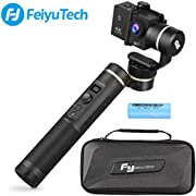 Feiyu G6 3-Axis Handheld Gimbal Stabilizer with WiFi Bluetooth Connection, 12Hrs Runtime OLED Screen for Gopro Hero 7/6 / 5/4 Session, Sony RX0, Yi Cam 4K, AEE Cameras (Updated Version of G5)