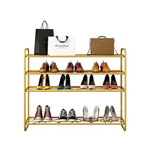 BIAOYU Estante de Zapatos 4 Niveles Zapatillas de Hierro Arte Multiusos Zapato Almacenamiento Organizador de Almacenamiento de Zapatos para Entrada vestíbulo de vestíbulo Organizador de Zapatos