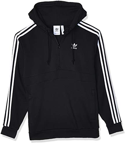 adidas 3-Stripes HZ Sweatshirt, Hombre, Black, S