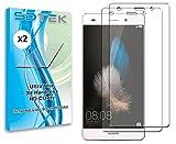 SDTEK *2 Pack Protection écran pour Huawei P8 Lite Verre Trempé Résistant aux éraflures Glass Screen Protector Vitre Tempered Film Protecteur pour Huawei P8 Lite (2015/2016)