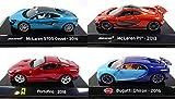 OPO 10 - Lote de 4 Coches Supercars: Compatible con Ferrari Portofino + Bugatti Chiron + McLaren / Ixo 1/43 (SC3 + SC5 + SC8 + SC23)