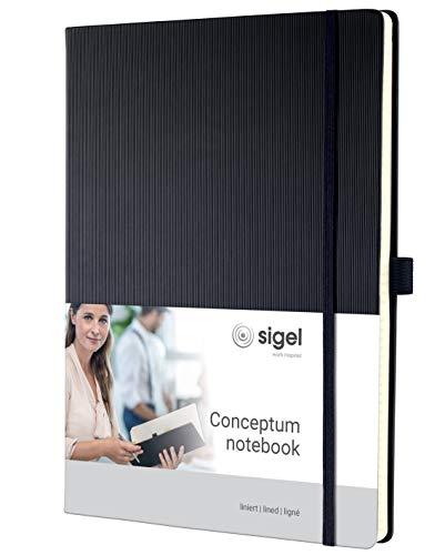 SIGEL CO112 Notizbuch ca. A4, liniert, Hardcover, schwarz, 194 Seiten, Conceptum - weitere Modelle
