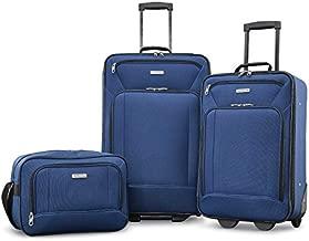 American Tourister Fieldbrook XLT Softside Upright Luggage, Navy, 3-Piece Set (BB/21/25)