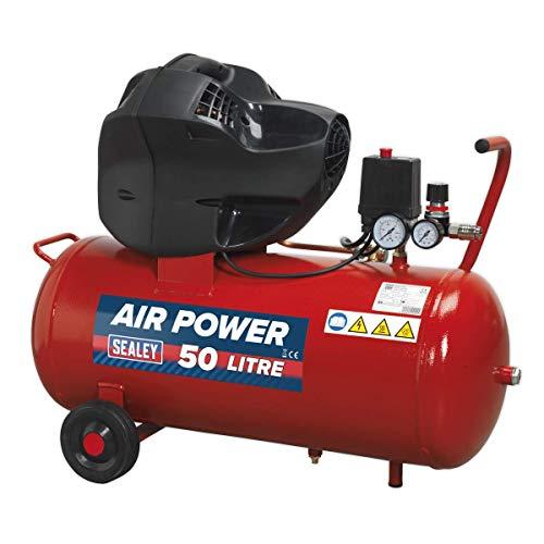 Sealey SAC05030F 50LTR v-twin compressore a cinghia 3HP senza olio