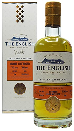 The English Whisky Co. - 1st Fill Bourbon Cask Matured Small Batch - 2016 5 year old Whisky