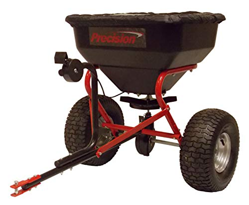 Best Price! Precision Products TBS6000RDOS 6-Series 130-Pound Tow Behind Broadcast Spreader with Rai...
