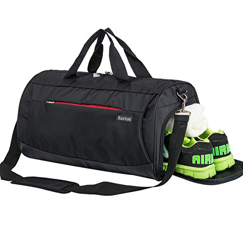 Kuston Sports Small Gym Bag for Men and Women Travel Duffel Bag Workout Bag with Shoes...