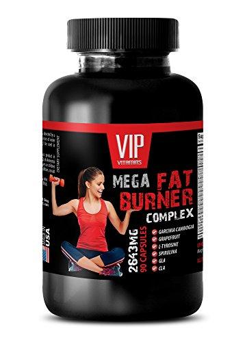 Metabolism Accelerator - MEGA Fat Burner Complex - 2645MG - Weight Management Vitamins - 1 Bottle (90 Capsules)