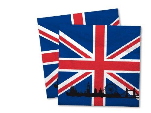 DH-Konzept 20 Servietten * Großbritannien * für Party und Geburtstag Party Fete Set UK GB England Union Jack Napkins Papierservietten
