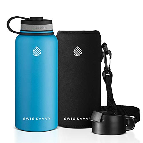 Swig Savvy Stainless Steel Water Bottle - Vacuum...