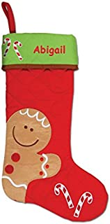 DIBSIES Personalization Station Personalized Quilted Christmas Stocking (Gingerbread)