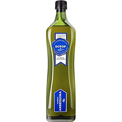 DCOOP Aceite de Oliva Virgen Extra - Aceituna y Sabor Frutado, Ideal Para Niños y Consumo en Crudo, Procedente de Nuestras Cooperativas, Arbequina, 1 Litro