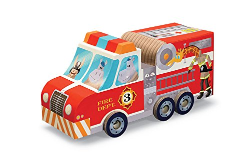 Crocodile Creek Fire Engine Truck 24-delige puzzel + voertuig Play Set