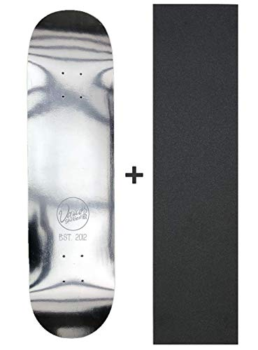 Vamos Skateboards - Small Circle Mirror Skateboard Deck inkl. Griptape | Canadian Maple | Diverse Breiten 8,00/8,125/8,25/8.50 Silver Foil (8.125)