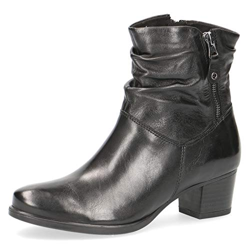 CAPRICE Damen Stiefeletten 25347-23, Frauen Stiefelette, Women's Women Woman Freizeit leger Stiefel Boot halbstiefel,Black Soft NAP,5 UK / 38 EU