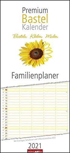 Bastelkalender Familienplaner Premium 22 x 48 cm Kalender 2021